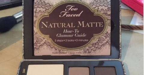 too faced natural matte tutorial