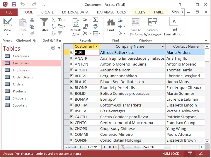 microsoft access 2010 tutorial working with tables