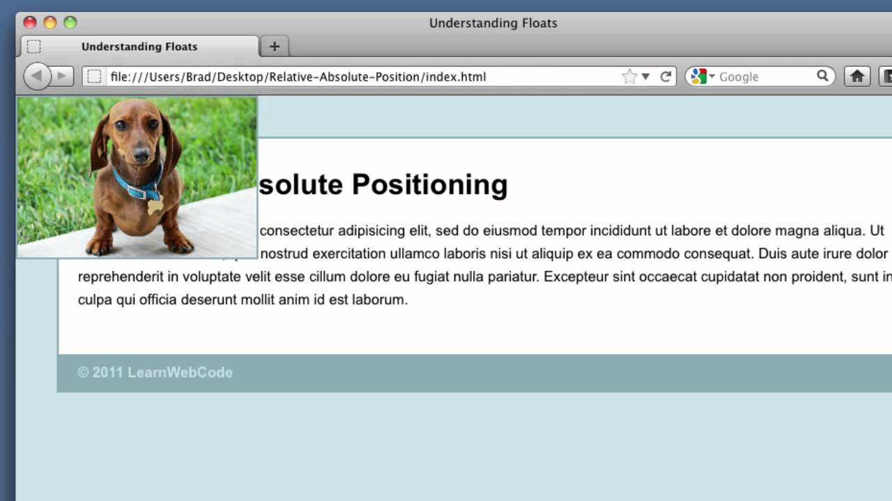 css position property tutorial