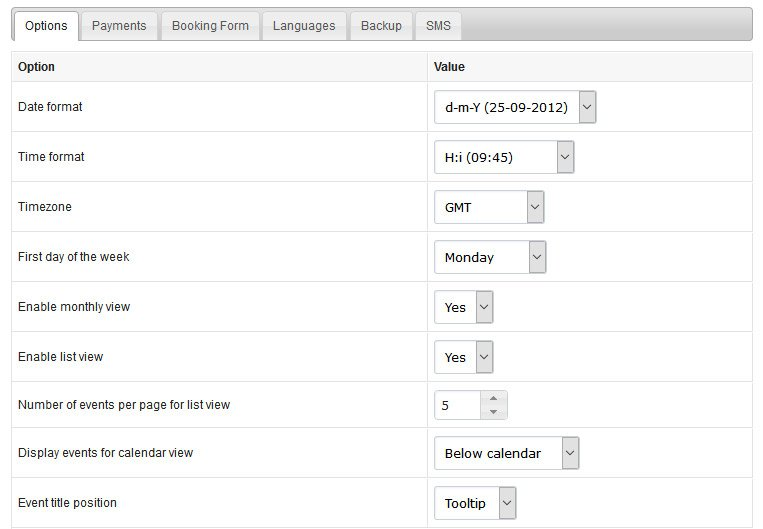 php calendar booking system tutorial