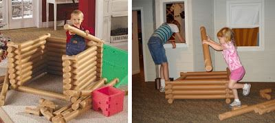 pool noodle lincoln logs tutorial